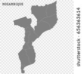 high quality map of mozambique...   Shutterstock .eps vector #656363614