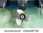Focus On A Rusty Boat Propeller ...