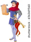 illustration of herald reading... | Shutterstock .eps vector #656369560