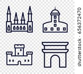 monument icons set. set of 4... | Shutterstock .eps vector #656372470