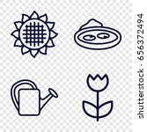 flora icons set. set of 4 flora ... | Shutterstock .eps vector #656372494