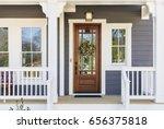 front door of an arts   crafts... | Shutterstock . vector #656375818