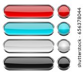 colored collection of oval and... | Shutterstock .eps vector #656378044