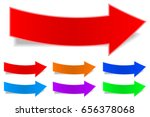 arrow sticker labels with... | Shutterstock .eps vector #656378068