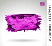 purple brush stroke and texture.... | Shutterstock .eps vector #656379964