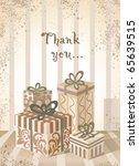 gift background. | Shutterstock .eps vector #65639515