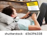 divorce agreement concept ... | Shutterstock . vector #656396338