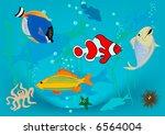 happy fish | Shutterstock .eps vector #6564004