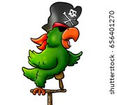 illustration of pirate parrot | Shutterstock . vector #656401270