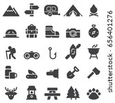 camping icons black edition | Shutterstock .eps vector #656401276