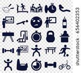 training icons set. set of 25... | Shutterstock .eps vector #656402353
