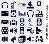 stereo icons set. set of 25... | Shutterstock .eps vector #656403838