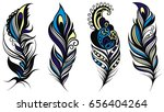 peacock feathers | Shutterstock .eps vector #656404264