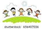 energetic children | Shutterstock .eps vector #656407036