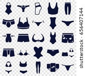 underwear icons set. set of 25... | Shutterstock .eps vector #656407144