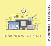 web and mobile design and... | Shutterstock .eps vector #656407360