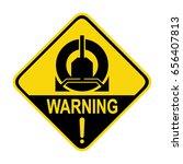 warning   wheel clamping in... | Shutterstock .eps vector #656407813