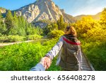 hand in hand. zumwalt meadows... | Shutterstock . vector #656408278