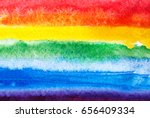 abstract watercolor gay flag....   Shutterstock . vector #656409334