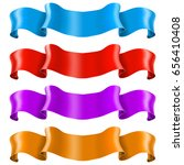 ribbon banners. shiny colored... | Shutterstock .eps vector #656410408