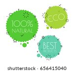 different eco tags vector set.... | Shutterstock .eps vector #656415040