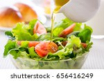 put the dressing in the... | Shutterstock . vector #656416249