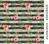 seamless pattern with... | Shutterstock . vector #656428420