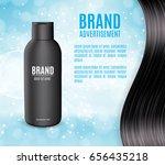 premium shampoo ads. realistic... | Shutterstock .eps vector #656435218