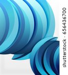 3d wave lines design. dynamic... | Shutterstock .eps vector #656436700