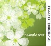 vector flowers | Shutterstock .eps vector #65644465