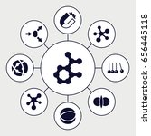 physics icons set. set of 9... | Shutterstock .eps vector #656445118