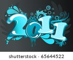 new year abstract  2011  with... | Shutterstock .eps vector #65644522