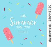 hello  summer sale card vector... | Shutterstock .eps vector #656445730