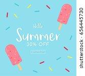 hello  summer sale card vector... | Shutterstock .eps vector #656445730