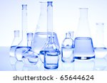 laboratory glassware  research... | Shutterstock . vector #65644624
