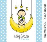 baby shower card. child sitting ...
