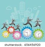 working around the clock   Shutterstock .eps vector #656456920