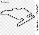 hungarian grand prix race track.... | Shutterstock .eps vector #656461483