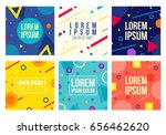 memphis style 6 cards.... | Shutterstock .eps vector #656462620