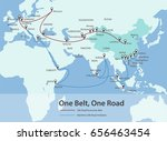 one belt  one road  chinese... | Shutterstock .eps vector #656463454