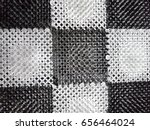 carpet made of plastic. prickly ... | Shutterstock . vector #656464024