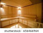 wooden sauna   Shutterstock . vector #656466964