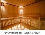 wooden sauna   Shutterstock . vector #656467024