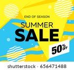 summer sale template banner ... | Shutterstock .eps vector #656471488