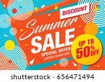 summer sale template banner ... | Shutterstock .eps vector #656471494