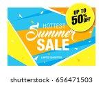 summer sale template banner ... | Shutterstock .eps vector #656471503
