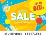 summer sale template banner ... | Shutterstock .eps vector #656471566