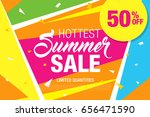 summer sale template banner ... | Shutterstock .eps vector #656471590