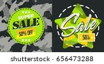 super sale banner. sale and... | Shutterstock .eps vector #656473288