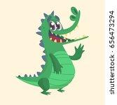 cute cartoon crocodile or... | Shutterstock .eps vector #656473294
